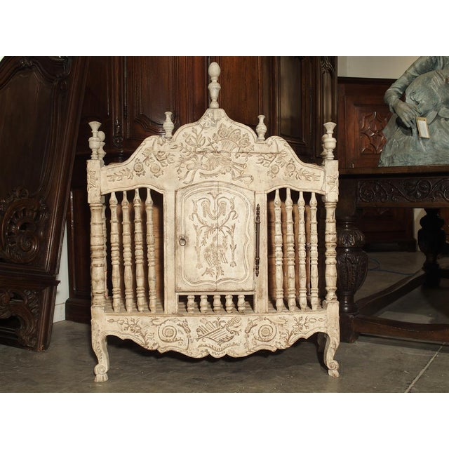 Painted 19th Century Panetiere From Provence, France For Sale - Image 4 of 13