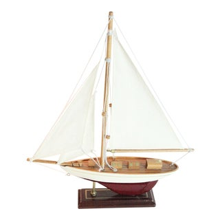 Vintage Model Sail Boat For Sale