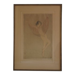 1920s Vintage Vala Moro Art Deco Signed Print For Sale