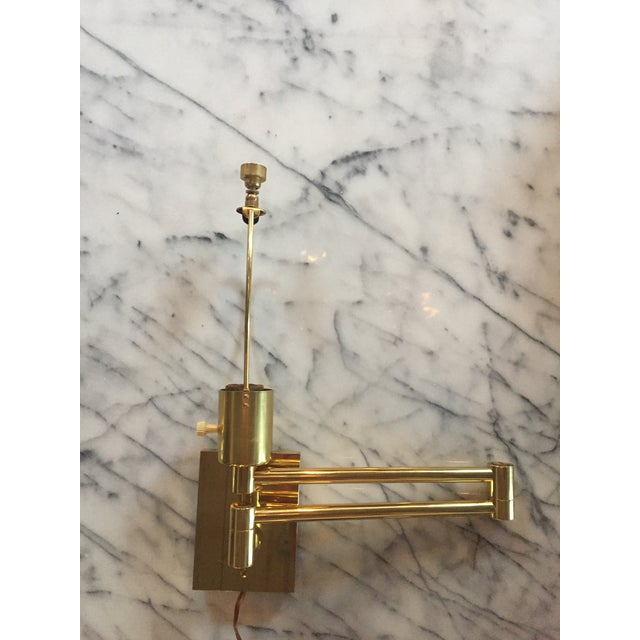 Classic Brass Hansen Wall Sconces - a Pair For Sale - Image 9 of 10