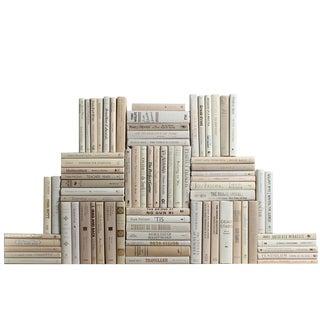 Modern Beach Book Wall : Set of Seventy Five Decorative Books