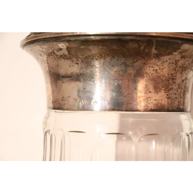 20th Century Italian Art Nouveau Crystal and Silver Vase, 1920s For Sale - Image 4 of 7