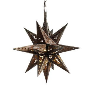 Moravian Tin Star Lantern Medium For Sale