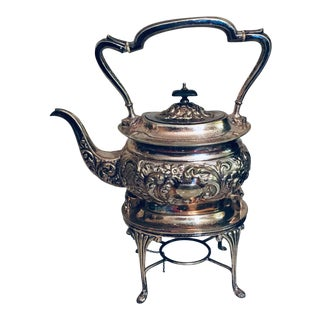 Antique Victorian Silver Plate Tea / Coffee Pot by William Adams, Birmingham C.1880 For Sale