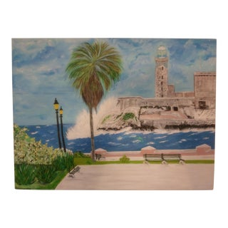 """Havana"" Contemporary Acrylic Painting"