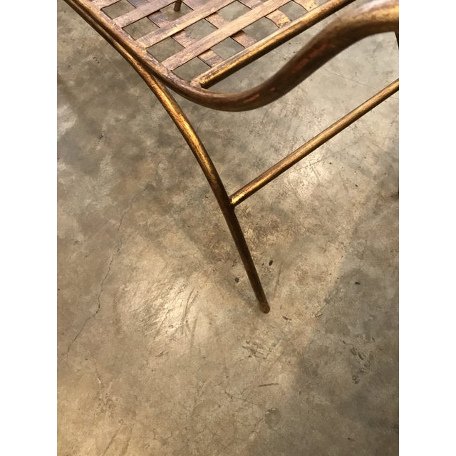 Mid Century Italian Gilded Gold Curule Bench - Image 9 of 12