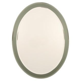 1950s Vintage Fontana Arte Oval Wall Mirror For Sale