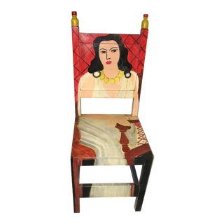 Matisse Inspired Painted Mexican Art Chair