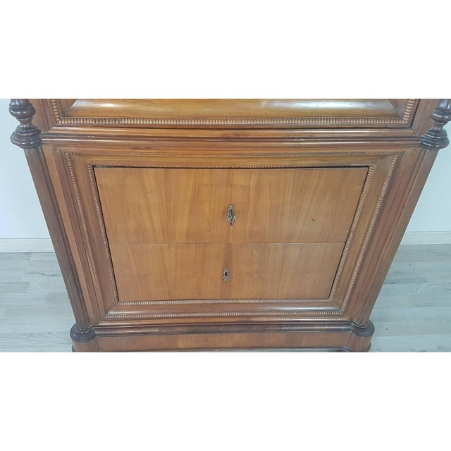 Brown 19th Century Italian Charles X Cherry Wood Cabinet For Sale - Image 8 of 13