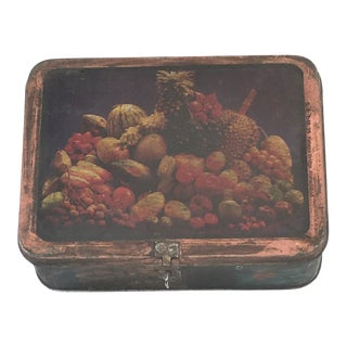 Vintage Indian Decorative Metal Lunch Box For Sale