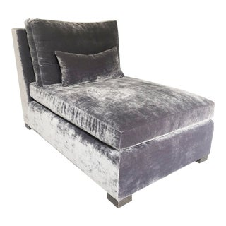 Modern Velvet Chaise Lounge For Sale