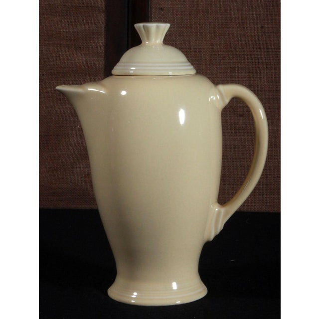 Vintage Fiesta Ware Sunflower Yellow Coffee Pot - Image 4 of 7