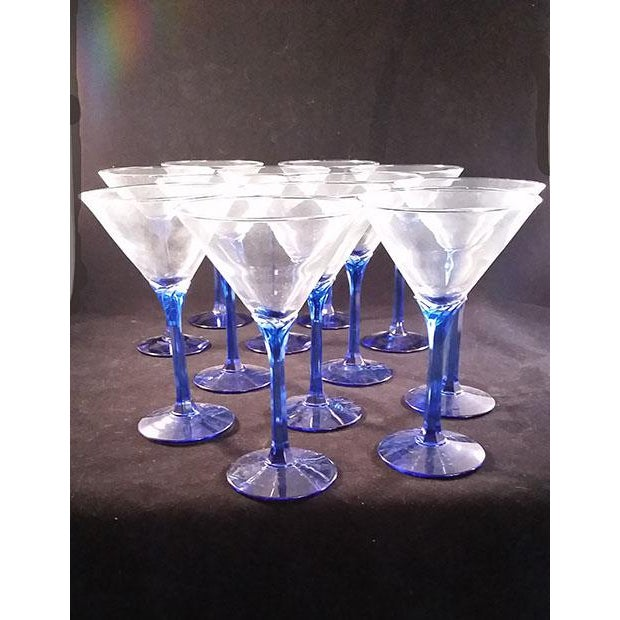Blue Stem Martini Glasses - Set of 12 - Image 2 of 5