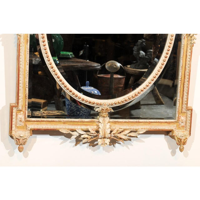 Gold French Louis XVI Style 19th Century Pareclose Mirror with Liberal Arts Symbols For Sale - Image 8 of 13
