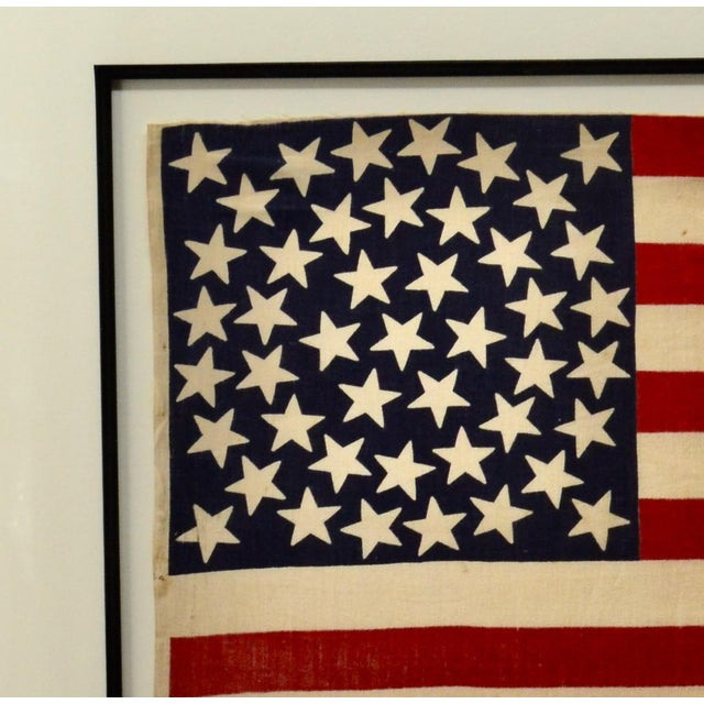 Antique 45 Star American Flag W/ Star Pattern For Sale - Image 4 of 5