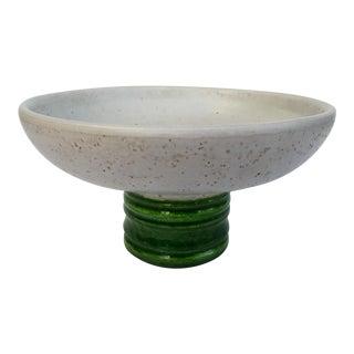 Italian Hand-Made Terracotta Center Pedestal Bowl Attr. To Bitossi
