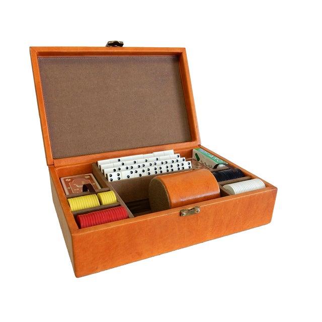 Rare Herman Miller Leather Case Poker Game/Domino - Image 1 of 9