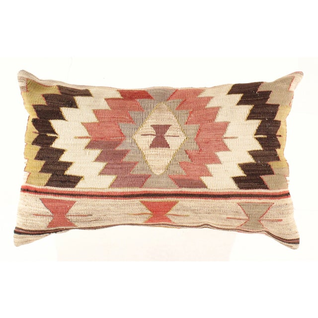 Vintage Hand Woven Turkish Kilim Pillow - Image 2 of 3