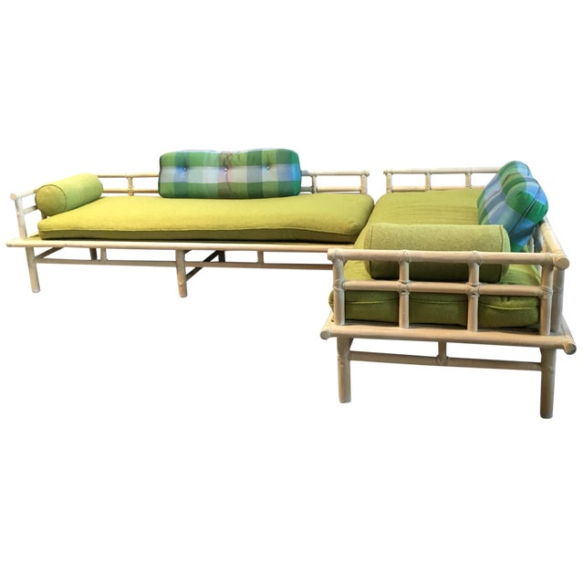 McGuire Rattan Daybed Set - Image 1 of 8