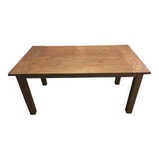 Crate & Barrel Teak Dining Room Table For Sale