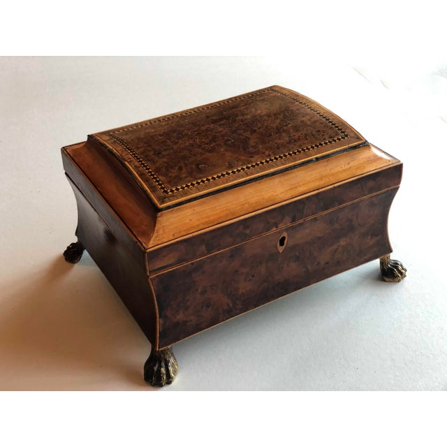Regency Burr Yew Table Box For Sale - Image 11 of 12