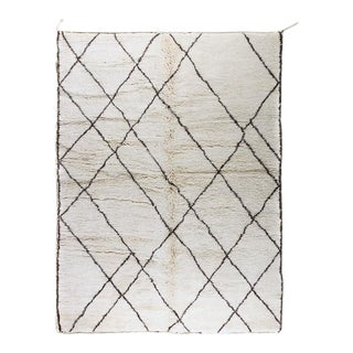 Vintage Moroccan Beni Ourain Rug - 7′ × 10′ For Sale