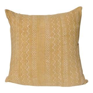 "Mustard Yellow MudCloth Pillow - 22"" x 22"""