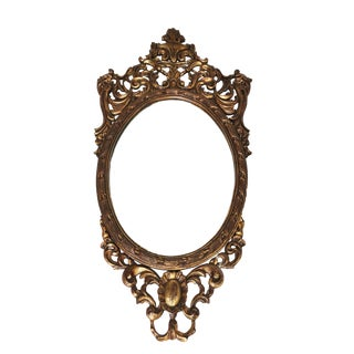 French Louis XVI Rococo Wood Ornate Mirror For Sale