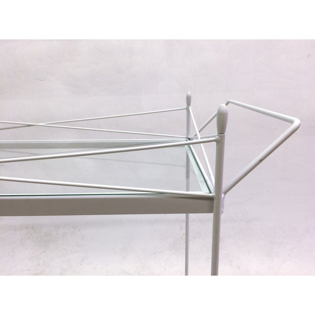 Mid-Century Bent Steel Bar Cart - Image 6 of 6