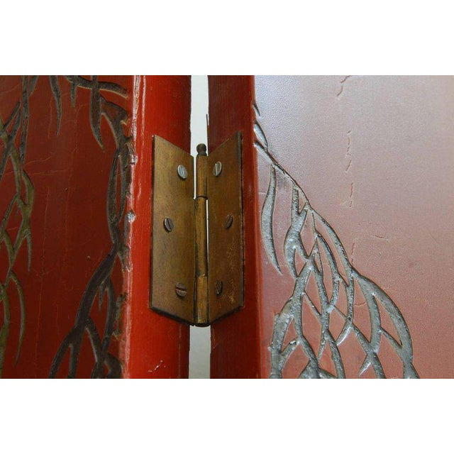 Chinese Coromandel Style Two-Sided Lacquer Screen For Sale - Image 12 of 13