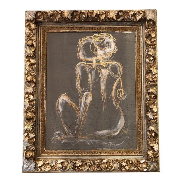 Gray Venetian Nude Painting For Sale