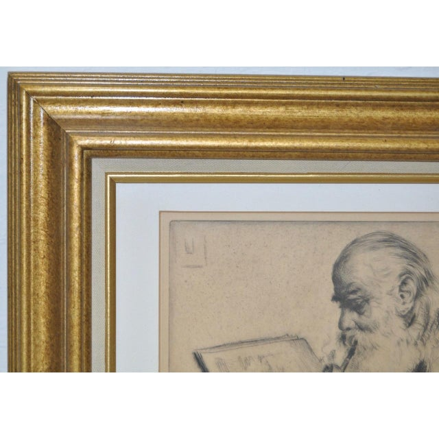 "Elias Grossman ""Quite Hour"" Etching c.1934 For Sale In San Francisco - Image 6 of 8"