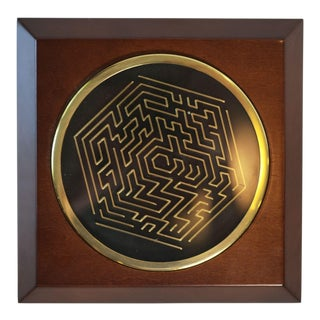 Vintage Brass Maze Puzzle Game For Sale