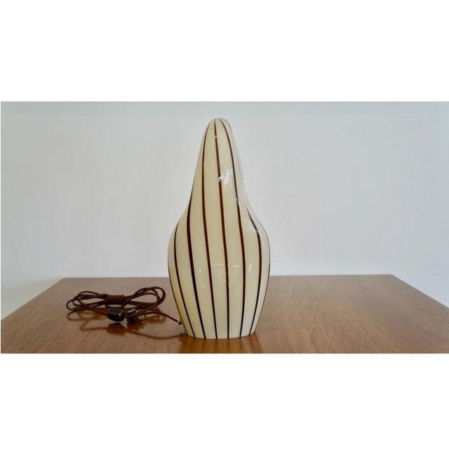 Striped Murano Italian Art Glass Lamp - Image 4 of 8