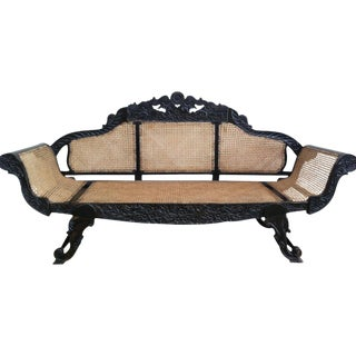 Anglo-Indian Carved Banquette For Sale
