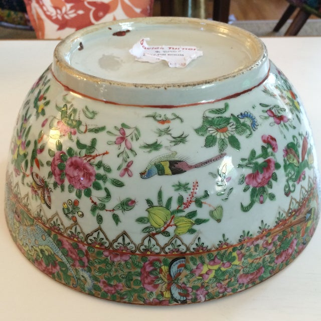Chinese Export Famille Rose Bowl For Sale - Image 7 of 7