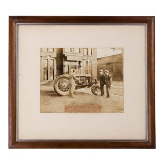 Ford Fordson Tractor and Monarch Equipment, Louisville, KY Antique Photograph