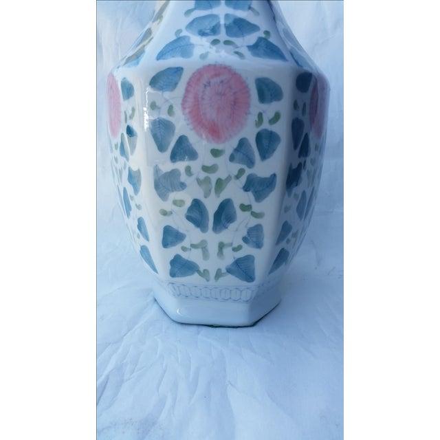 Hand Painted Peonies Porcelain Vase - Image 6 of 6