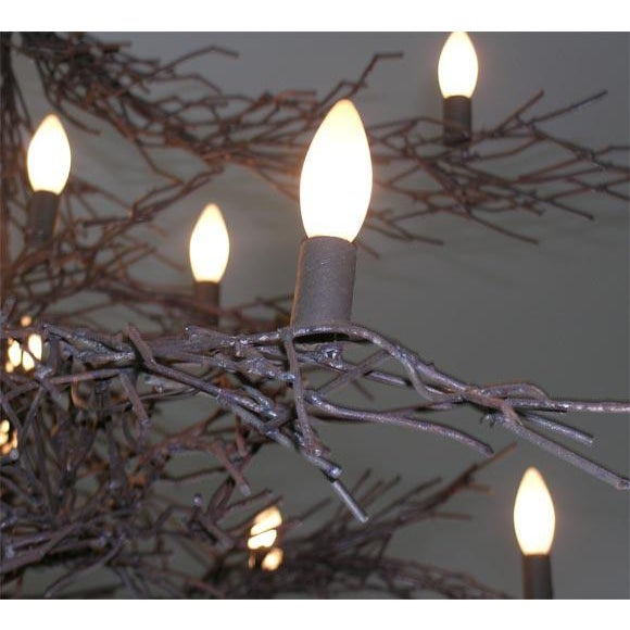 Contemporary Monumental Twig Plaster Chandelier For Sale - Image 3 of 8