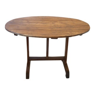 19th Century French Walnut Wine Tasting Table For Sale