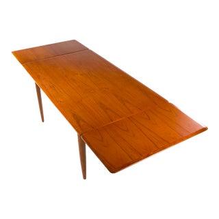 1950s Mid-Century Ib Kofod Larsen Teak Extending Dining Table For Sale