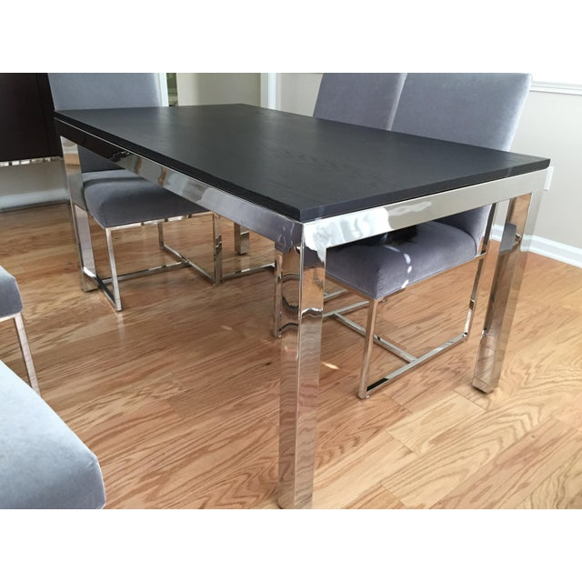 Modern Modern Mitchell Gold Parsons Dining Table For Sale - Image 3 of 4