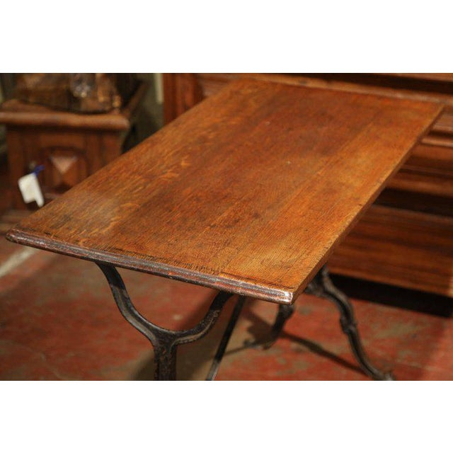 Late 19th Century French Iron & Wood Bistro Table - Image 6 of 6