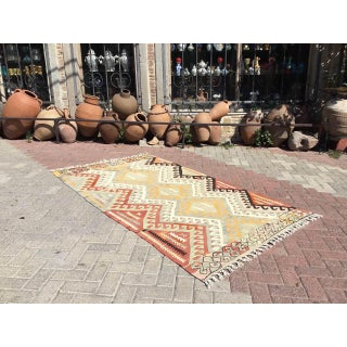 Vintage Pale Turkish Kilim Rug Preview