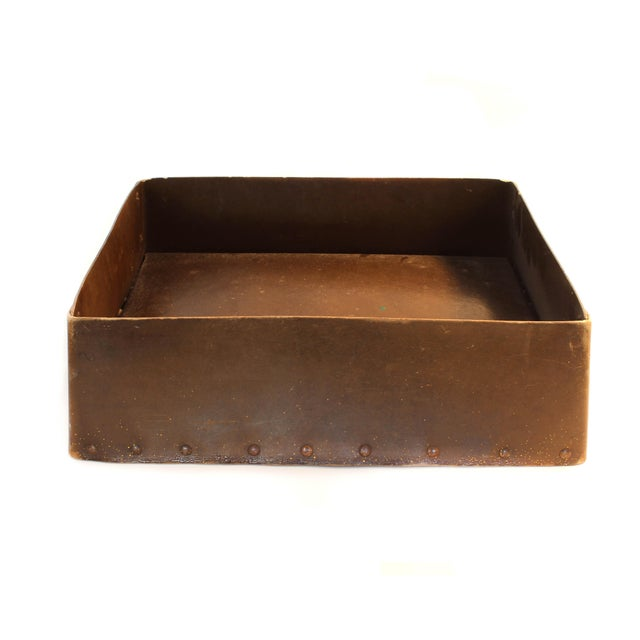 Industrial Bronzed Tray For Sale - Image 3 of 3