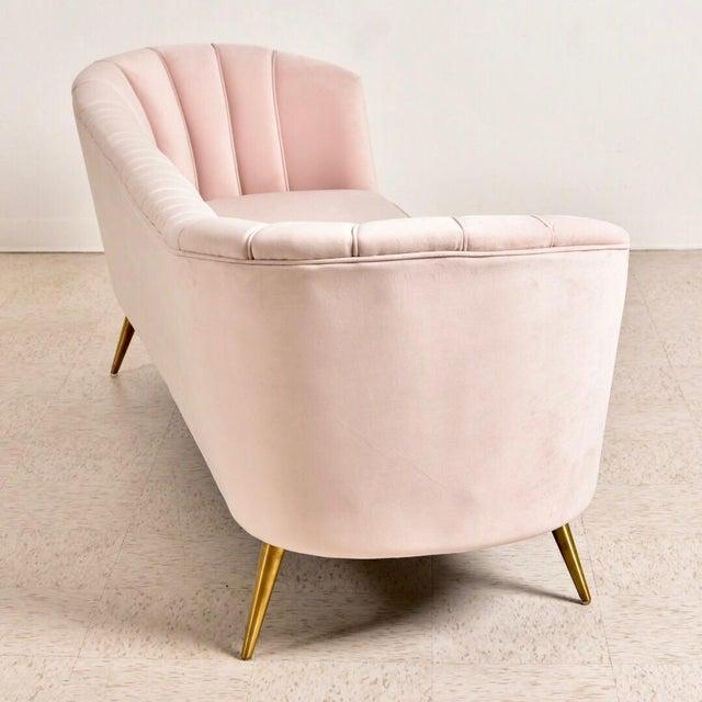 """Textile Modern """"Gwen"""" Pink Velvet Sofa For Sale - Image 7 of 9"""