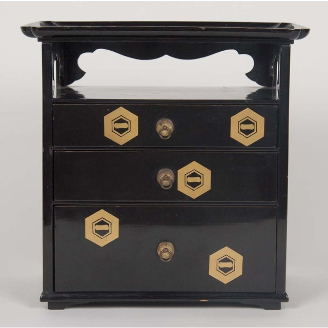 Japanese Lacquer Cosmetics Cabinet For Sale - Image 4 of 13