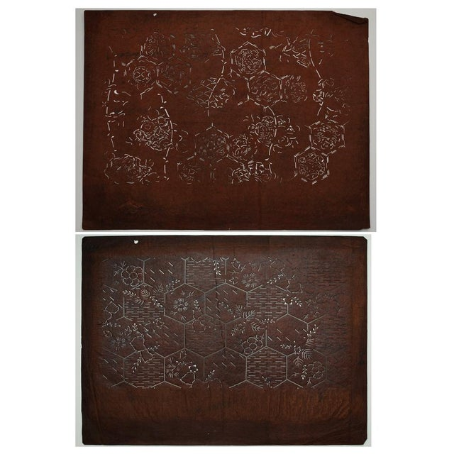 Japanese Kimono Katagami Art - A Pair - Image 9 of 9