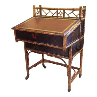 Rare 19th Century Bamboo Davenport Desk For Sale