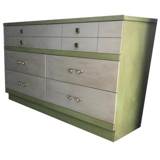 1960s Mid Century Modern Six Drawer Lowboy Dresser For Sale